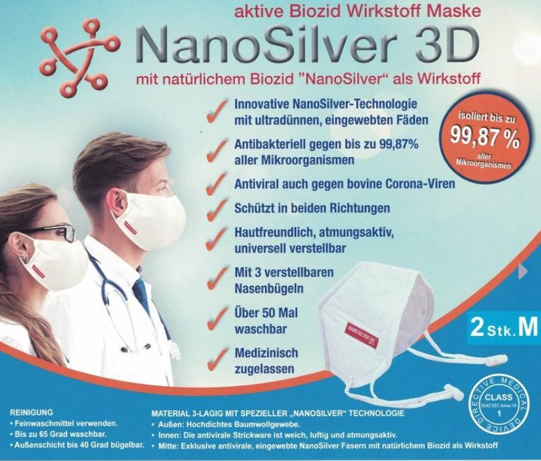 NanoSilver 3D Maske